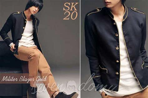 Blazer Korean Style Sk 61 genji s black korean jacket seven domu seven domu