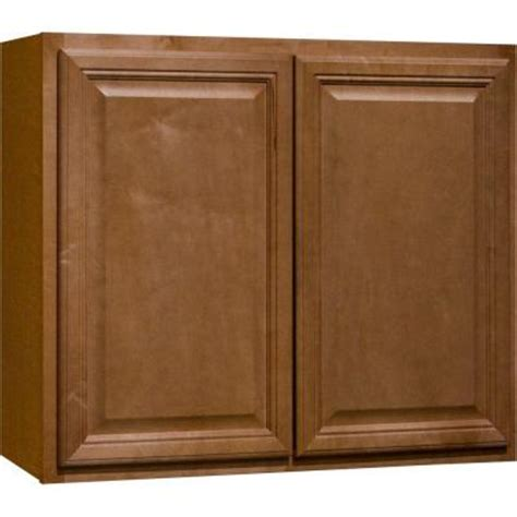 hton bay 36x30x12 in cambria wall cabinet in harvest
