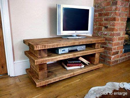 Handmade Furniture Ideas - rustic handmade wooden tv stand diy flats
