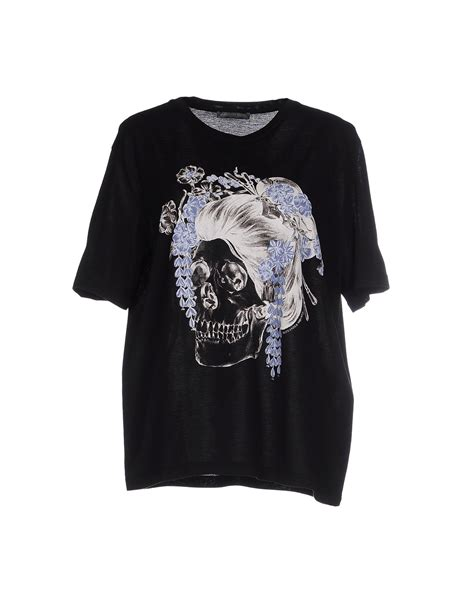 Mcqueen T Shirt by Lyst Mcqueen T Shirt In Black