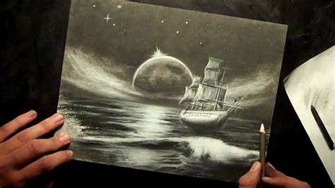 boat charcoal drawing charcoal ghost ship speed drawing youtube