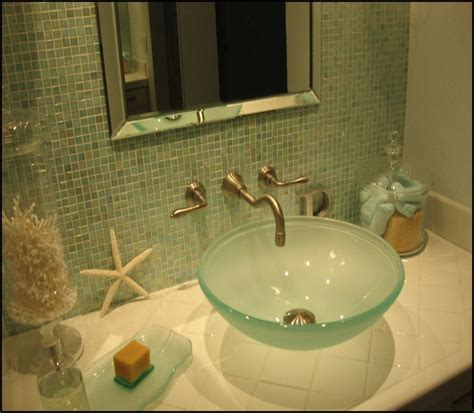 small spa like bathroom small but spa like bathroom done in ocean blues and
