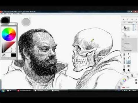 tutorial sketchbook ipad pen and ink drawing tutorial in sketchbook pro 6 youtube