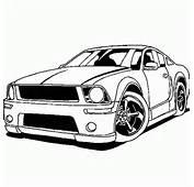 Dibujos Para Colorear Coches De Carreras Ford Mustang