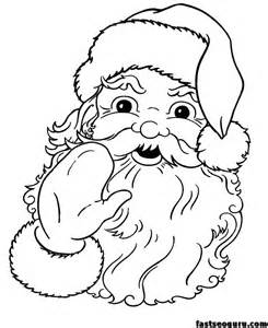 Printable santa claus face cola coloring pages printable coloring