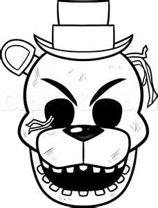 Free coloring pages of freddies mask