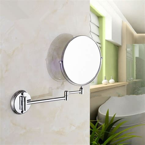 retractable bathroom mirror stainless steel wall mirror folding wall mirror double