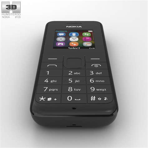 Nokia 105 Dual Sim Neo nokia 105 dual sim black 3d model hum3d