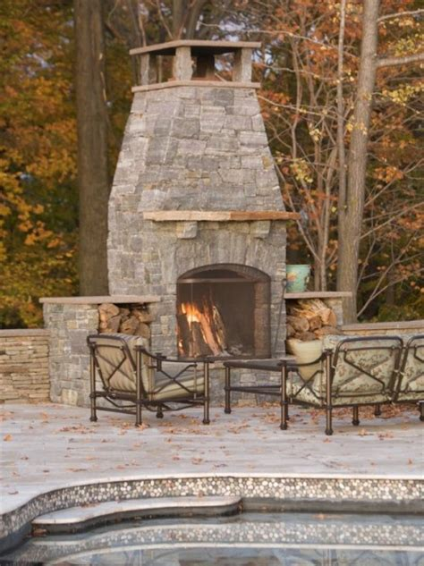 outdoor fireplace chimney beautiful homes design