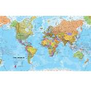 Huge World Wall Map Political  Without Flags WM001 Maps