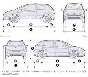Fiat Punto Dimensions Fiat Punto Restylage 2012 Fiche Technique Dimensions