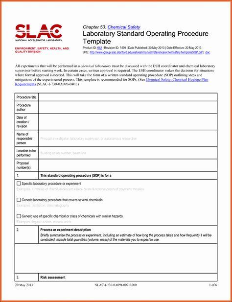 standard biography format 11 editable standard operating procedure template