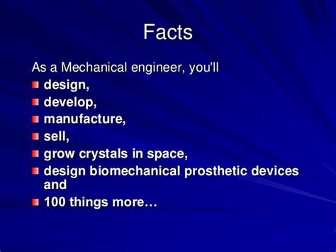 Mechanical Engineering Info Some Interesting Facts About Mechanical