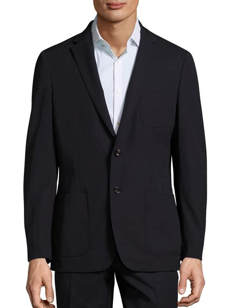 Michael Kors Blazer michael kors slim fit trop wool blazer in blue for lyst