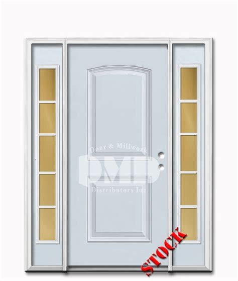 Exterior Doors Wholesale 2 Panel Arch Steel Exterior Door With Sidelites 6 8 Door And Millwork Distributors Inc