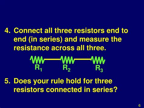 three resistors are connected in series across a battery the value of each resistance ppt investigation ohms resistances in series and parallel powerpoint presentation id 502754
