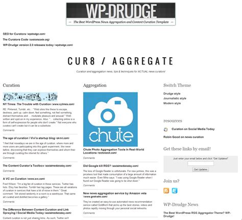 News Aggregator Template by Wp Rss Aggregator Wp Drudge Combo It Just Works Wp Mayor
