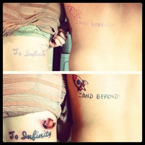 couple tattoo to infinity and beyond cute matching tattoos from toy story to infinity and