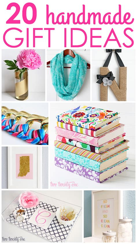 Handmade Inexpensive Gifts - 20 handmade gift ideas