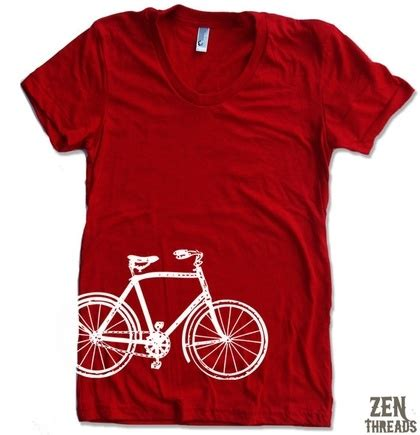 womens vintage bicycle t shirt american apparel s m by
