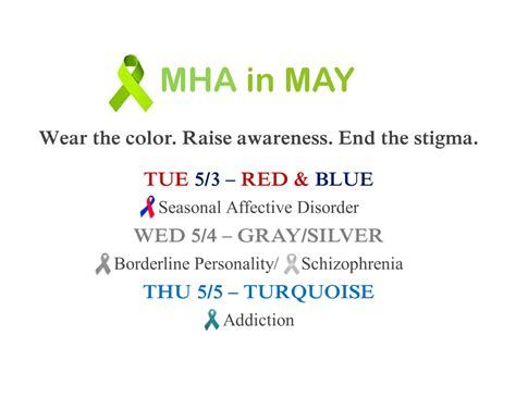 mental health awareness month color may is mental health awareness month roosevelt high school