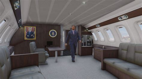 Air One Plane Interior by Gta 5 Air One Boeing Vc 25a Enterable Interior