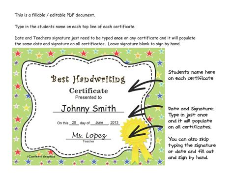 pre k award certificate templates 30 editable fillable end of the year certificates