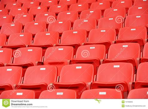 what are seats at a football football seats royalty free stock photo image 14793845