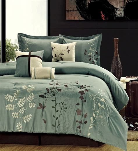 Clearance Bedding Sets Clearance 8pc Luxury Bedding Set Sea Green Ivory Clearance Deals