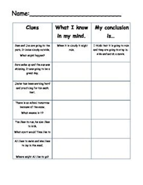 Drawing Conclusions Worksheets 2nd Grade by The World S Catalog Of Ideas