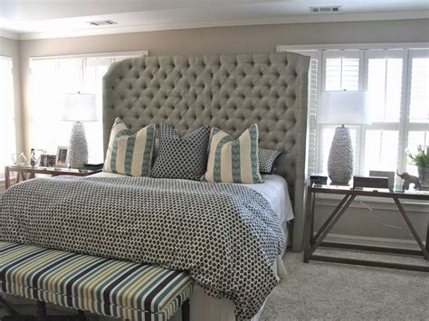 tall headboard king extra tall upholstered headboard home design ideas