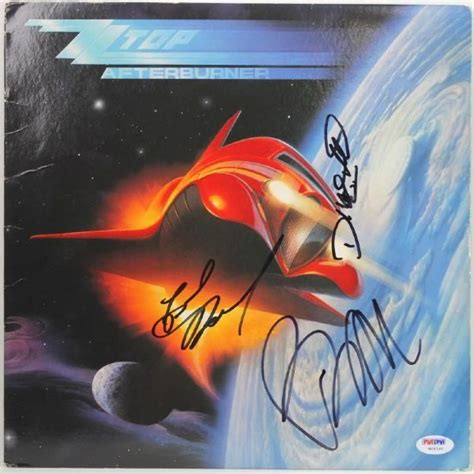 lot detail zz top billy gibbons signed quot lot detail zz top signed quot afterburner quot album w 3