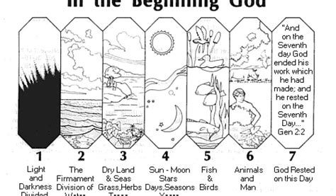days of creation coloring pages days of creation coloring pages 6 6887