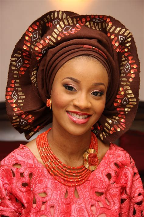 nigerian traditional wedding styles images bn weddings trend watch sequined blinged gele bellanaija