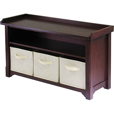 storage bench walmart milan storage bench walnut walmart com