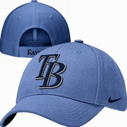 light blue mlb hats ta bay rays tb logo light blue nike wool classic