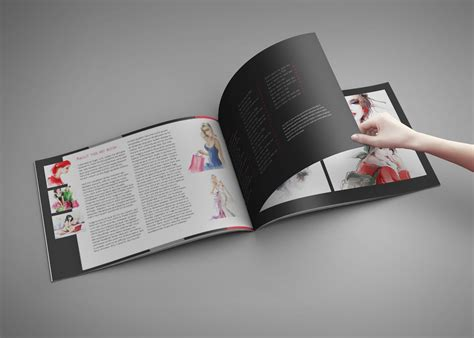 design portfolio and artbook template for indesign