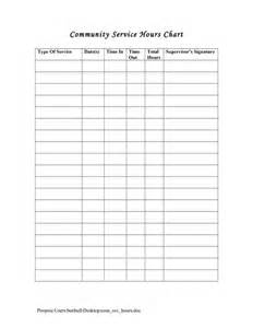 Volunteer Hours Log Template by Service Hours Log Sheet Printable Community Service