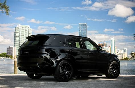 luxury black range rover customized range rover sport exclusive motoring miami