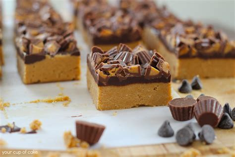 no bake peanut butter bars with chocolate on top no bake peanut butter chocolate bars your cup of cake