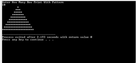 pattern in c geeksforgeeks c program to print a given triangle of stars
