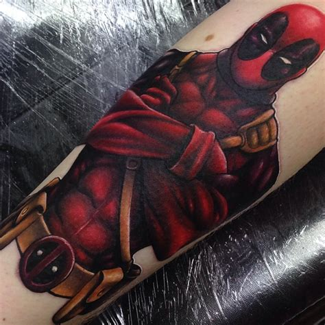 marvel deadpool tattoo by craig holmes by