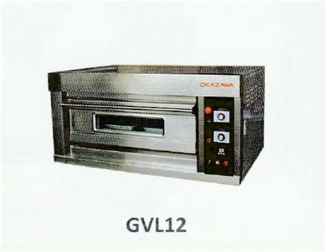 Oven Okazawa okazawa 1deck 2tray commercial gas baking oven my power