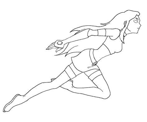 coloring page starfire 2 starfire coloring page az coloring pages