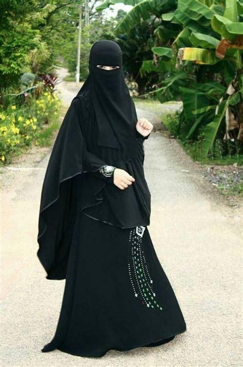 Khimar Arab beautiful flowing niqab khimar and abaya partially