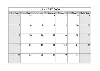 blank calendar  template  printable blank monthly calendars