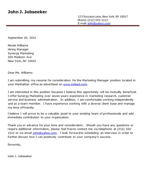 A Cover Letter Example – [L&R] Cover Letter Examples 1   Letter & Resume
