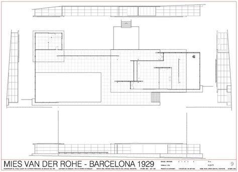 mies der rohe barcelona pavillon grundriss les 25 meilleures id 233 es concernant barcelona pavillon sur
