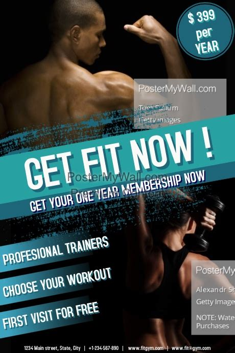 Fitness Template Postermywall Fitness Poster Template Free