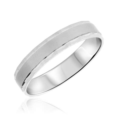 white gold wedding bands for no diamondstraditional mens wedding band 10k white gold my trio rings bt307w10km